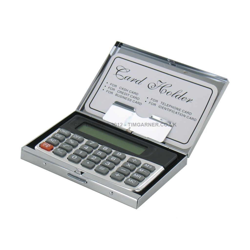 .co.uk Gifts For The Present Business Card Holder with Calculator ...