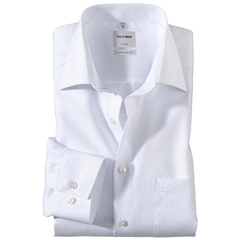 Olymp Comfort Fit Shirt - New Kent Collar - White - 0254 64 00