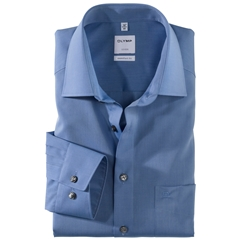 Olymp Comfort Fit Shirt - Chambray - Blue - 5131 64 15