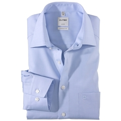 Olymp Comfort Fit Shirt - Chambray - Light Blue - 5131 64 11