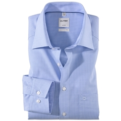 Olymp Comfort Fit Shirt - Bleu Check - 3190 64 11