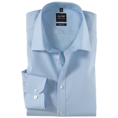 Olymp Level Five Body Fit Extra Long Sleeve Shirt - Sky Blue
