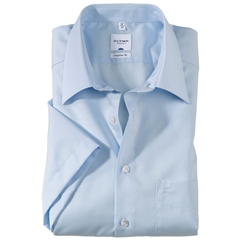 Olymp Regular Fit Short Sleeve Shirt - Sky Blue