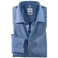 Olymp Regular Fit Shirt - Blue Chambray