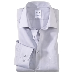 Olymp Regular Fit Shirt - Silver Grey Chambray