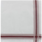 Mens Handkerchief -  Mens Hemstitched Handkerchief with Maroon Border