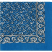 Mid Blue Neat Paisley Design Bandana or Large Handkerchief