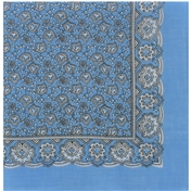 Light Blue Neat Paisley Design Bandana or Large Handkerchief