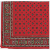 Red Neat Paisley Design Bandana or Large Handkerchief