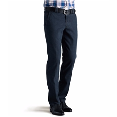 Meyer Stretch Denim Trouser - Stone Blue  - Roma 629 20