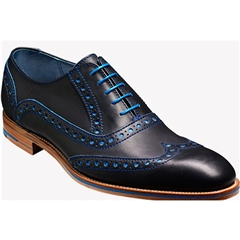 Barker Shoes Style: Grant - Navy/Classic Blue Calf