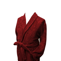 Men's Full Shawl Towelling Dressing Gown - Burgundy