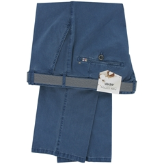New 2015 Meyer Pima Cotton Trouser - Mid Blue - Limited Edition