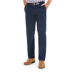 Gurteen Longford Cotton Trouser - Navy