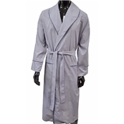 Lightweight Dressing Gown - Blue, Navy and Red Stripes
