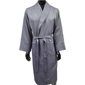 Men's Lightweight Dressing Gown - Navy Medallion Design