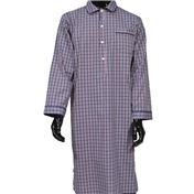 Men's Nightshirt - Navy and Red Check