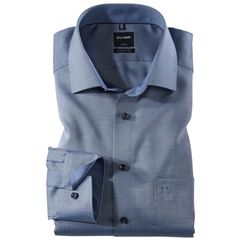 Olymp Modern Fit Contrast Collar Shirt - Navy