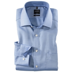 Olymp Modern Fit Contrast Collar Shirt - Light Blue