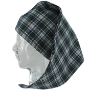 Magee Men's Check Nightcap Navy and Yellow  Check - Dress Gordon Design