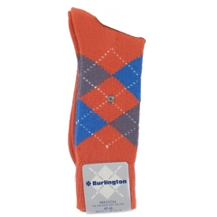 Burlington Socks - Preston Orange/Blue Argyle Socks