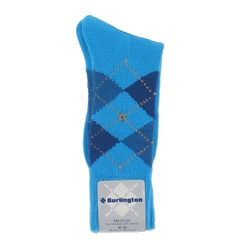 Burlington Socks - Preston Turquoise Argyle Socks