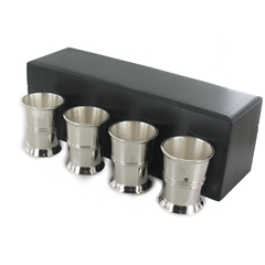 Four Shot Cups Delivered in a wooden gift box - Mens Gift