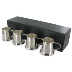 Four Shot Cups in a Wooden box - great man's gift