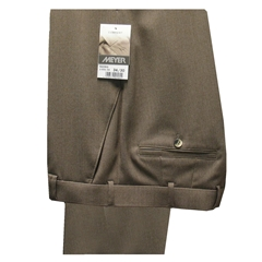 Meyer Trousers Fawn Wool Gabardine - Online Exclusive - Special Purchase
