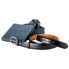 Barker Shoes Plain Belt - Black Calf
