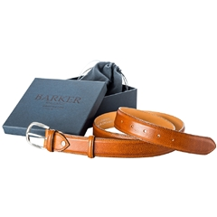 Barker Shoes Plain Belt - Cedar Grain