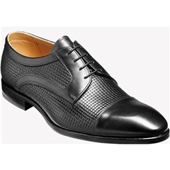 Barker Shoes Style: Deene - Black Calf/Weave
