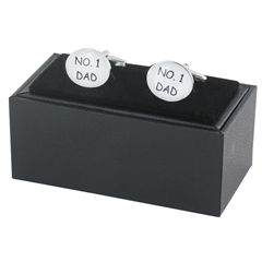 Number One Dad Cufflinks - Fathers Design Cuff Links in Gift Box