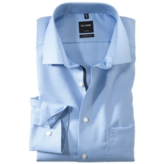 Olymp Modern Fit Gingham Shirt - Sky Blue