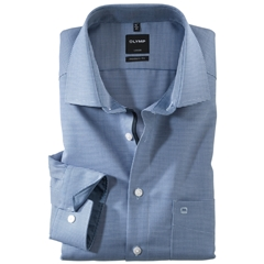 Olymp Modern Fit Gingham Shirt - Navy