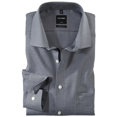 Olymp Modern Fit Gingham Shirt - Black