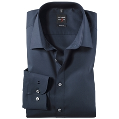 Olymp Level Five Body Fit Shirt - Navy Blue