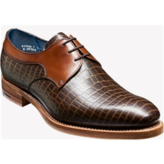 Barker Shoes Style: Benedict - Brown Croc/Calf