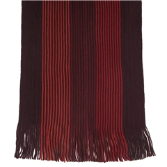 Men's Knitted Scarf - Wine Stripe Design Men's Scarf