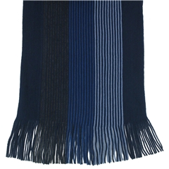 Men's Knitted Scarf - Navy Stripe Design Men's Scarf