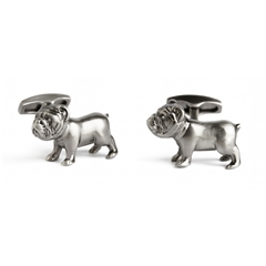 Swarovski Pursuits Bulldog Cufflinks