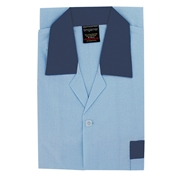 Men's Nightshirt - Button Through - Sky Blue