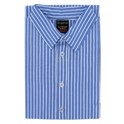 Men's Nightshirt - Deep Blue & White Stripe
