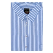 Men's Nightshirt - Sky Blue & White Stripe