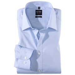 Olymp Level Five Body Fit Shirt - Sky Blue Chambray