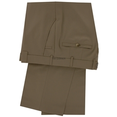 Meyer Trouser Fine Tropical Wool Mix - Olive - Roma 344 35