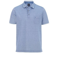 Olymp Polo - Modern Fit - Textured Navy