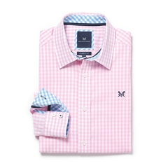 New 2017 Mens Crew Clothing Classic Fit Gingham Shirt - Classic Pink