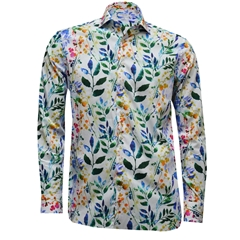 Giordano Shirt - Large Leaves Multi - Size XXL Only