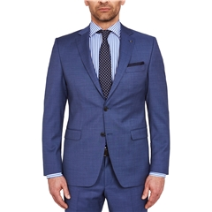 Digel Suit - Modern Fit 100% Italian Wool - Blue Neat Design